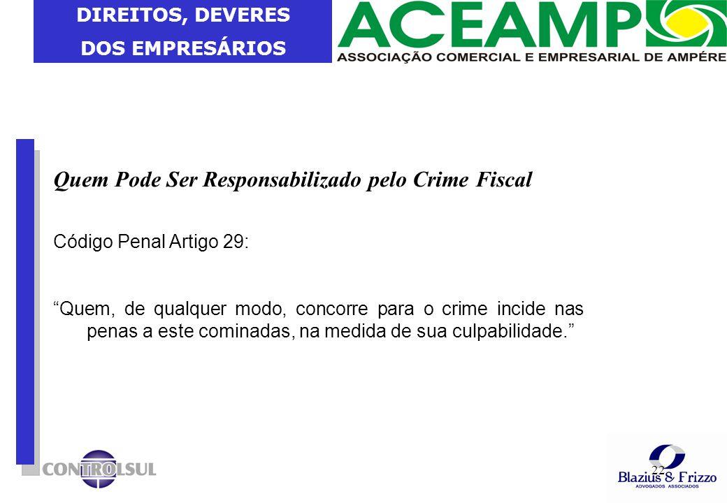 Quem Pode Ser Responsabilizado pelo Crime Fiscal