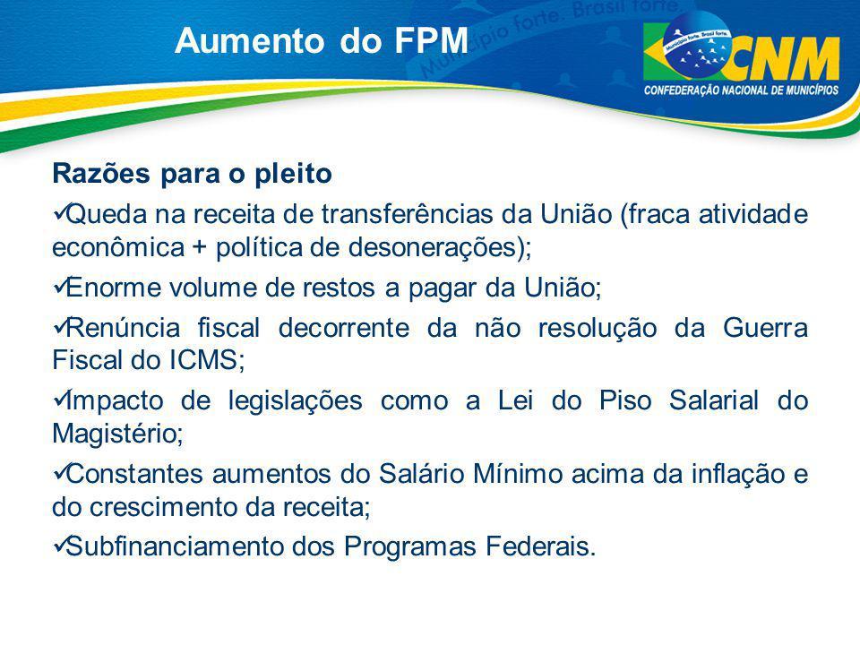 Aumento do FPM Razões para o pleito
