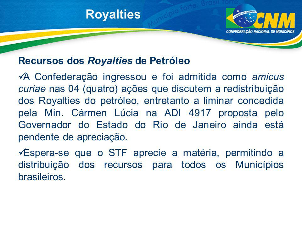 Royalties Recursos dos Royalties de Petróleo