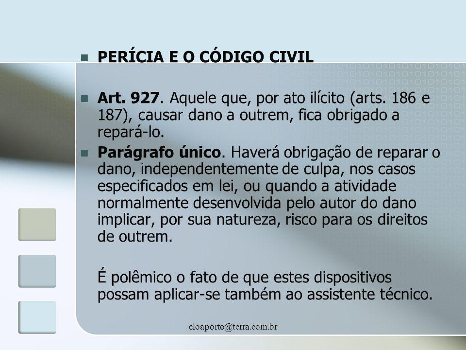 PERÍCIA E O CÓDIGO CIVIL