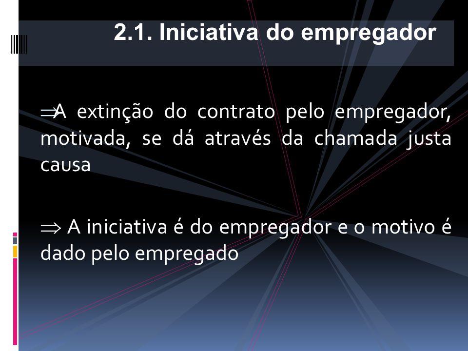 2.1. Iniciativa do empregador