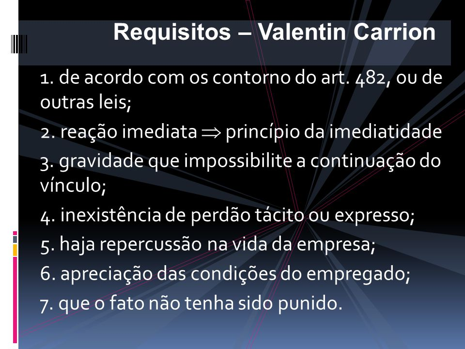 Requisitos – Valentin Carrion