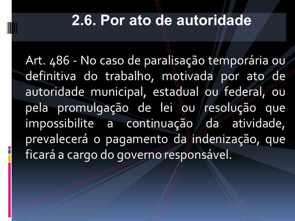 2.6. Por ato de autoridade