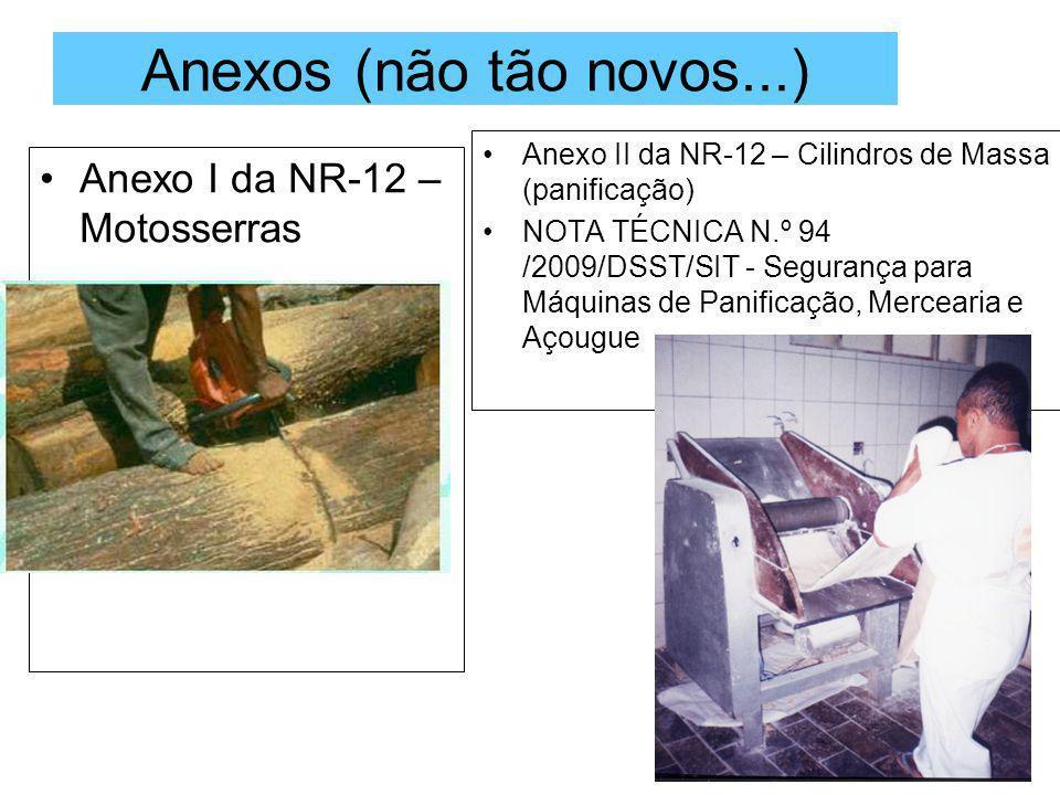 Anexos (não tão novos...) Anexo I da NR-12 – Motosserras