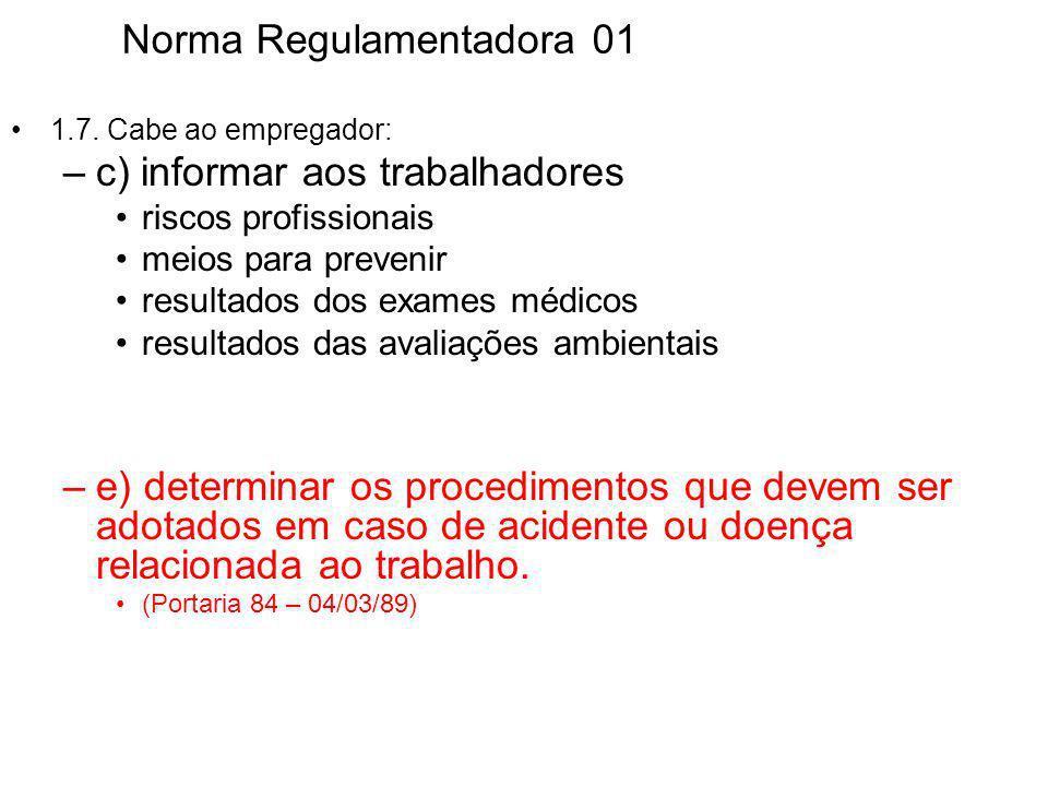 Norma Regulamentadora 01