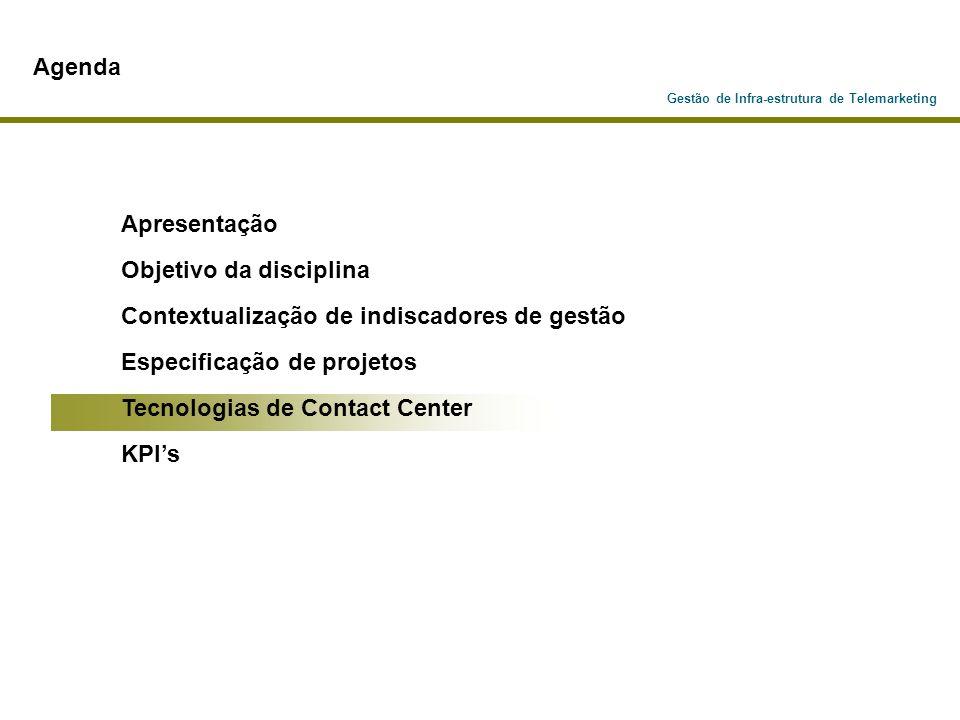 Objetivo da disciplina Contextualização de indiscadores de gestão