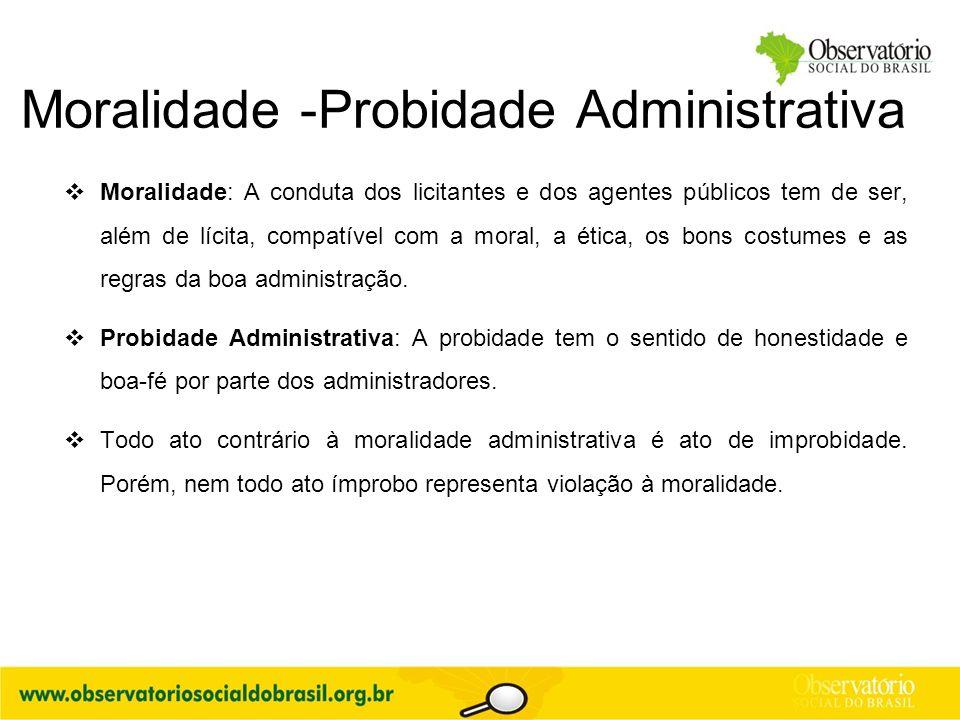 Moralidade -Probidade Administrativa