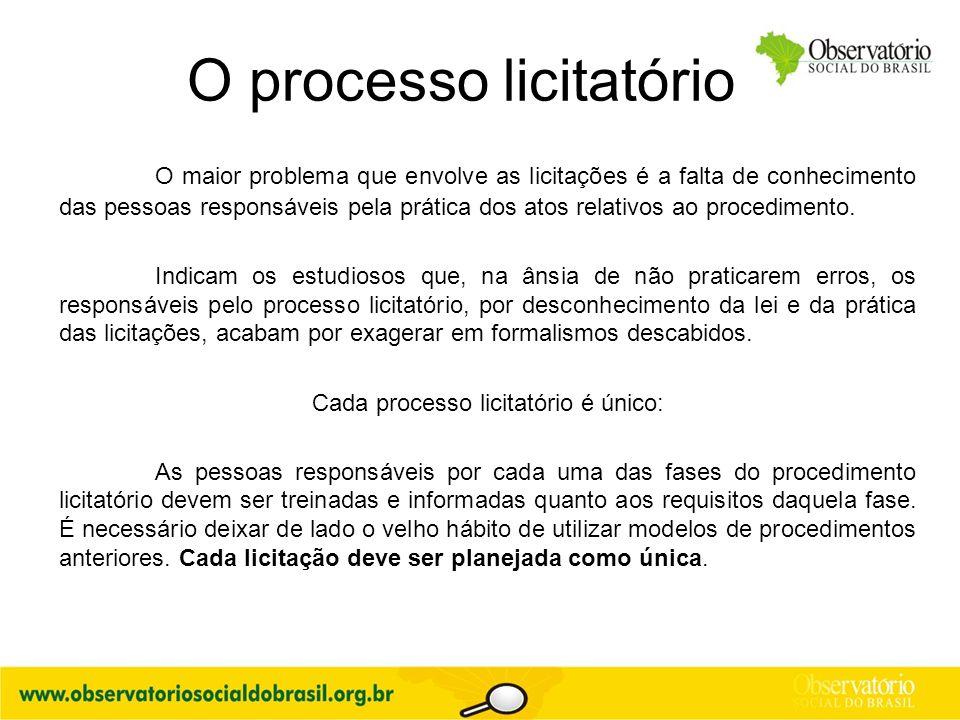 O processo licitatório