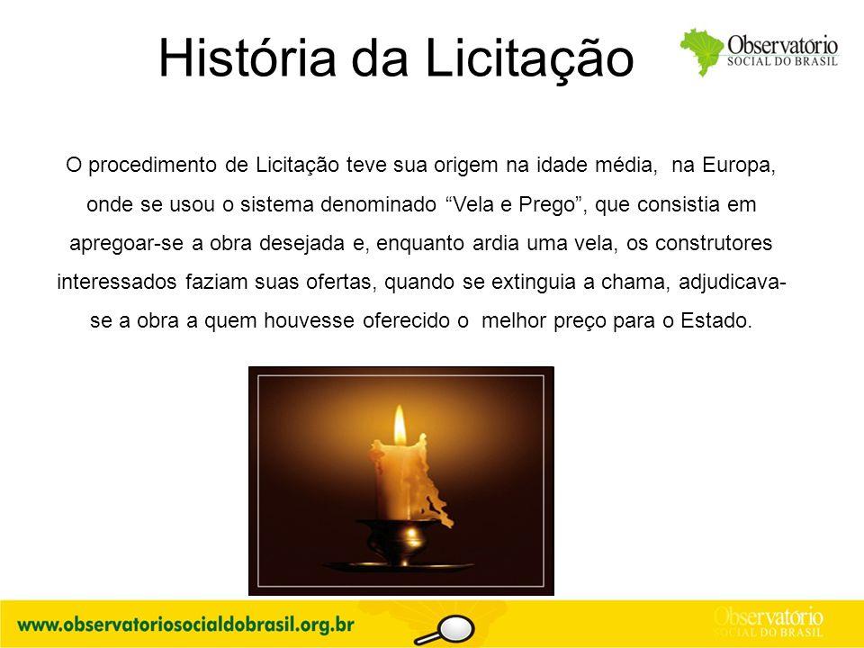 História da Licitação