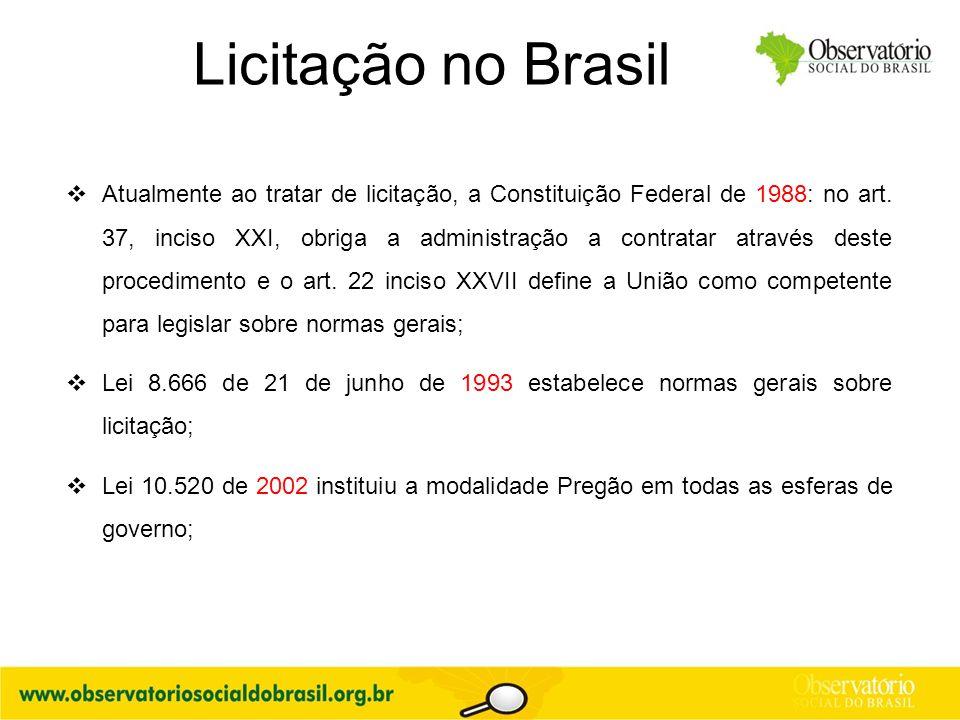 Licitação no Brasil