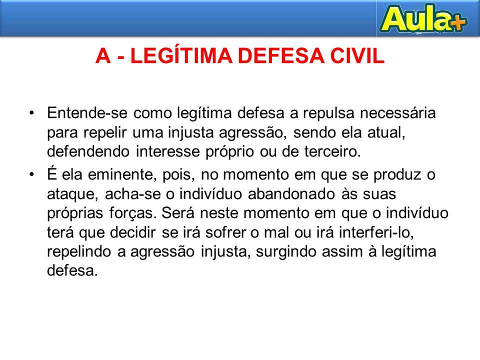 A - LEGÍTIMA DEFESA CIVIL