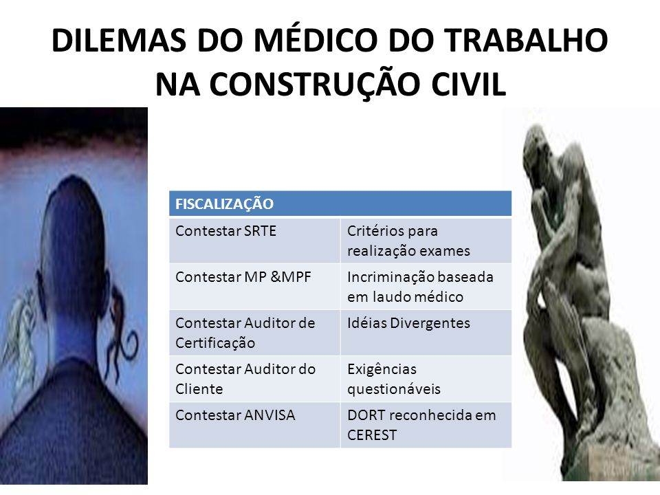 DILEMAS DO MÉDICO DO TRABALHO NA CONSTRUÇÃO CIVIL