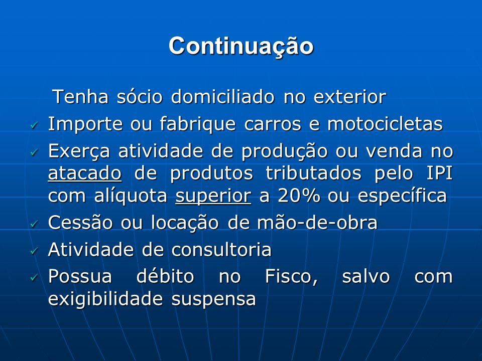 Continuação Importe ou fabrique carros e motocicletas