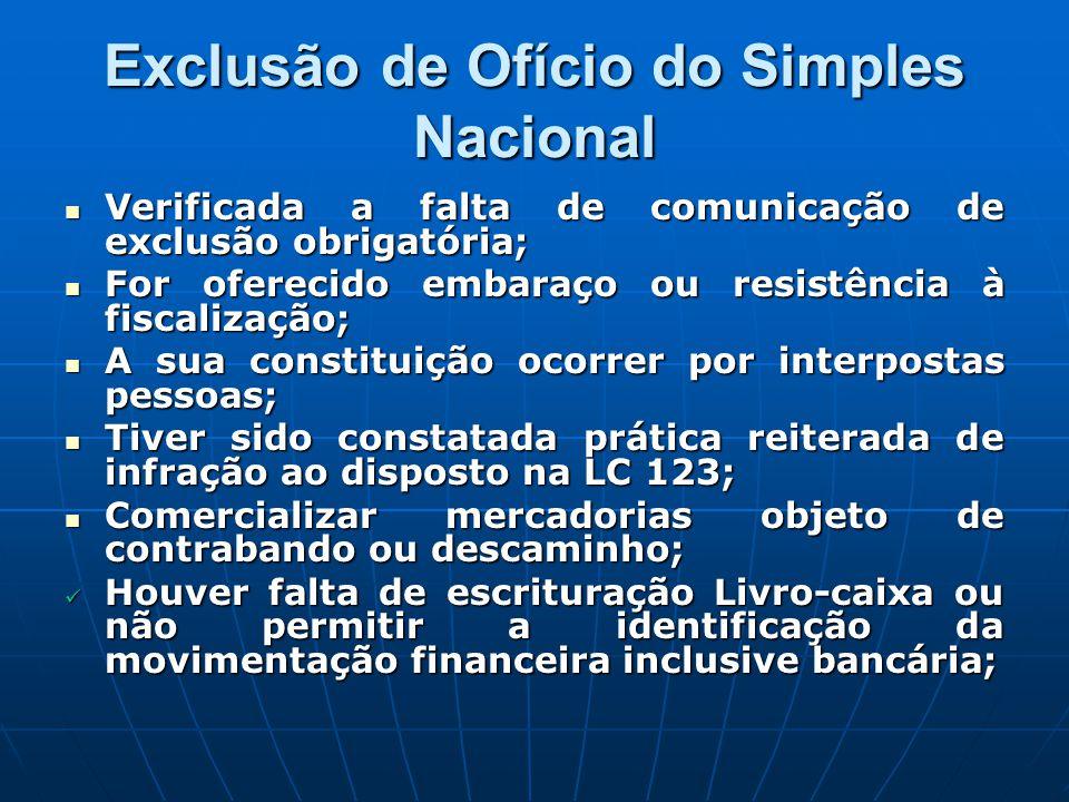 Exclusão de Ofício do Simples Nacional