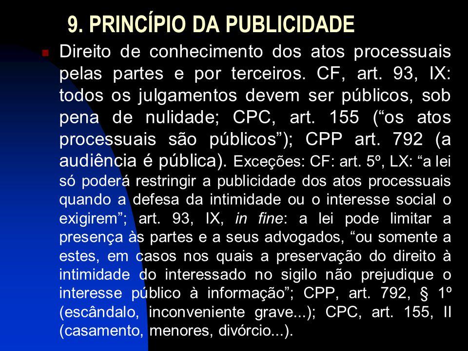 9. PRINCÍPIO DA PUBLICIDADE