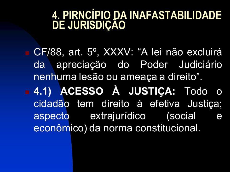 4. PIRNCÍPIO DA INAFASTABILIDADE DE JURISDIÇÃO