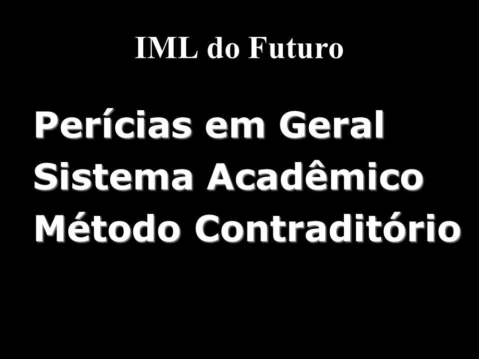 IML do Futuro Perícias em Geral Sistema Acadêmico Método Contraditório