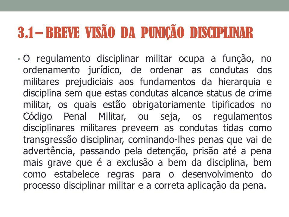 3.1 – BREVE VISÃO DA PUNIÇÃO DISCIPLINAR