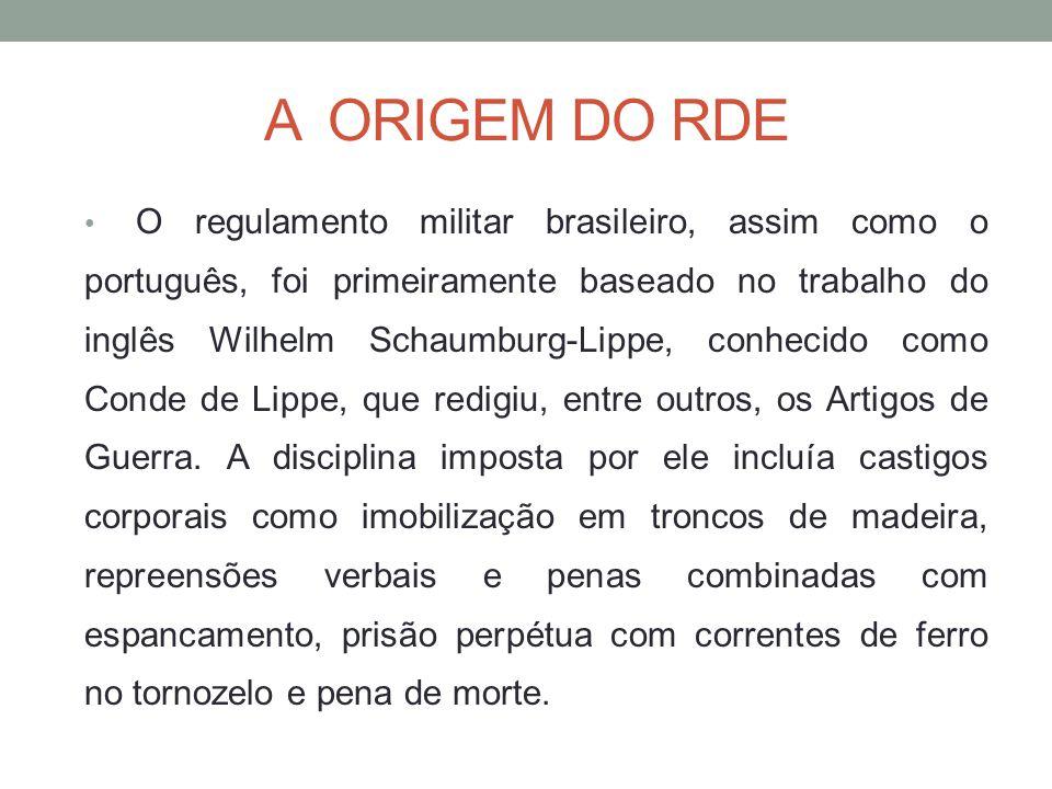 A ORIGEM DO RDE