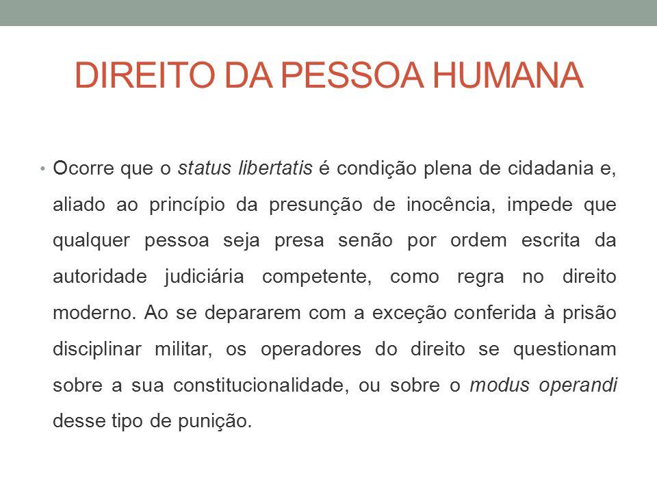 DIREITO DA PESSOA HUMANA