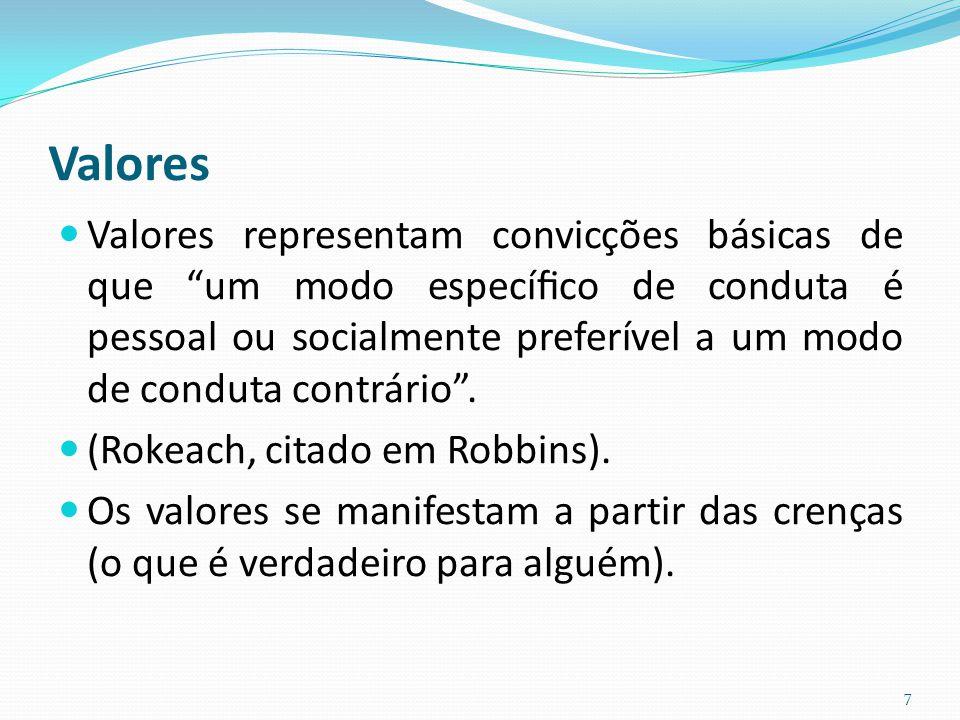 (Rokeach, citado em Robbins).