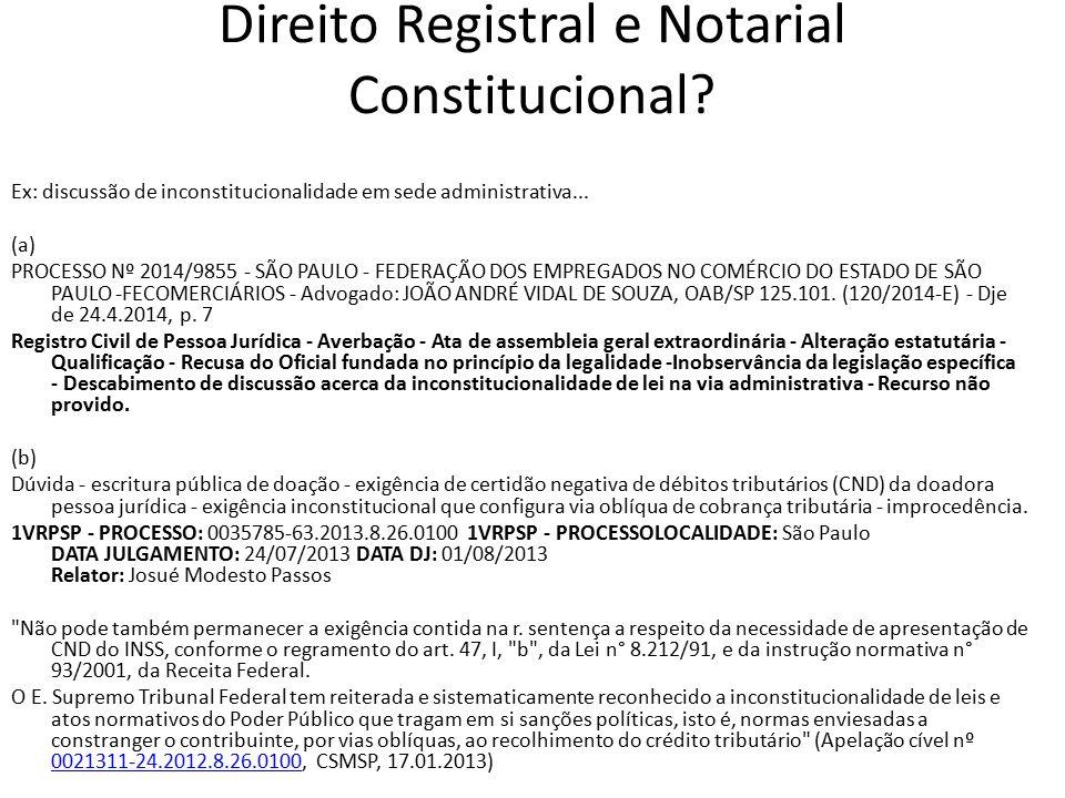 Direito Registral e Notarial Constitucional