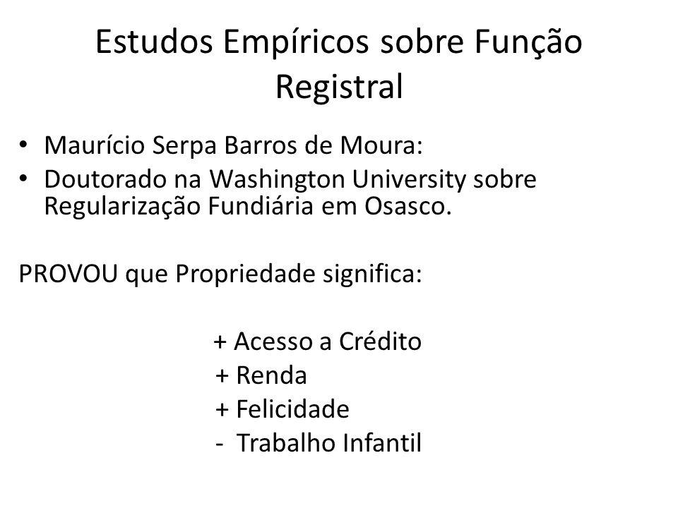 Estudos Empíricos sobre Função Registral