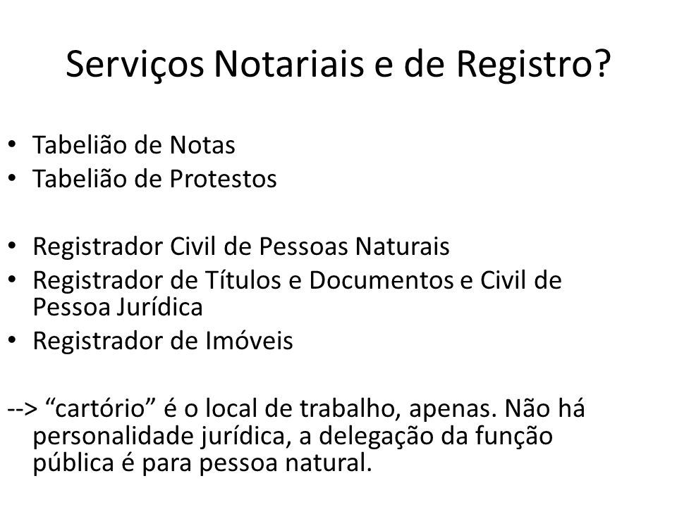 Serviços Notariais e de Registro