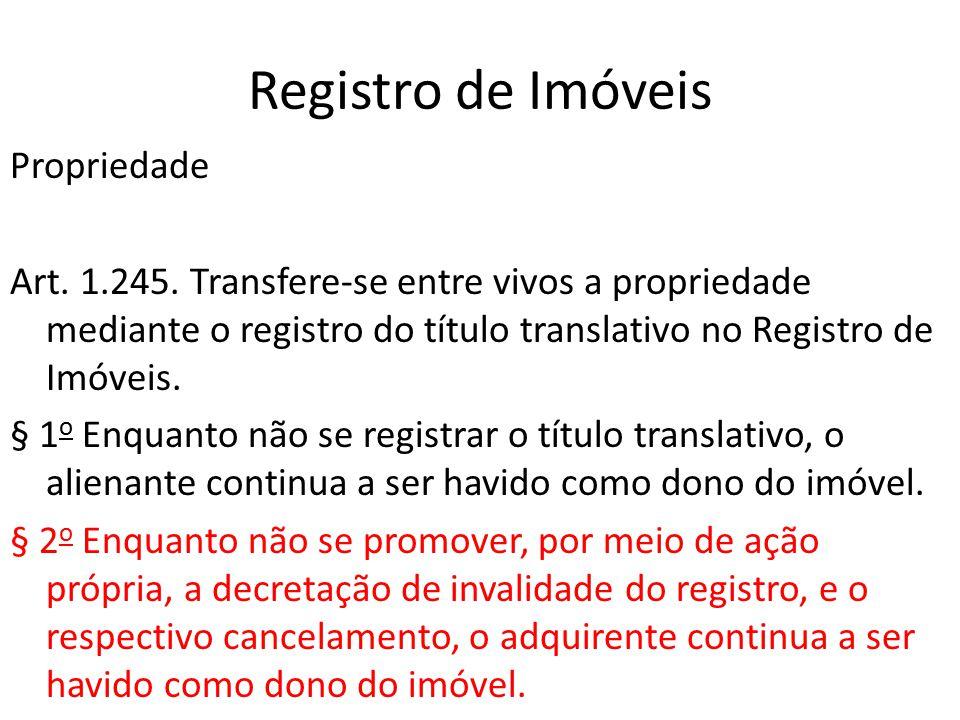 Registro de Imóveis Propriedade