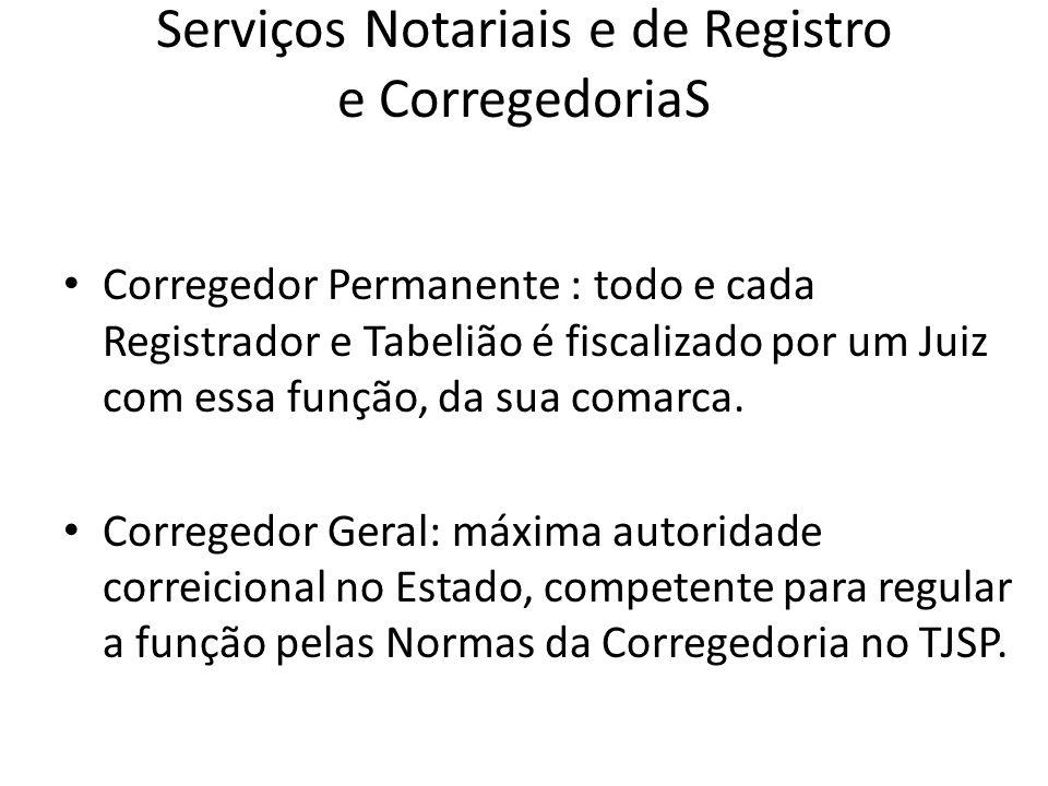 Serviços Notariais e de Registro e CorregedoriaS
