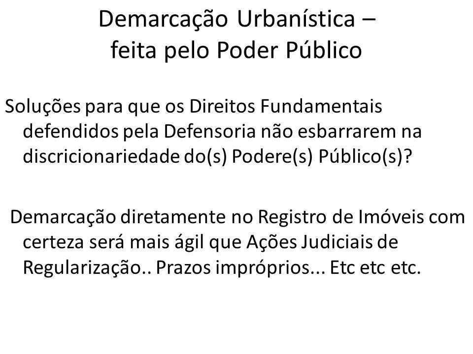 Demarcação Urbanística – feita pelo Poder Público