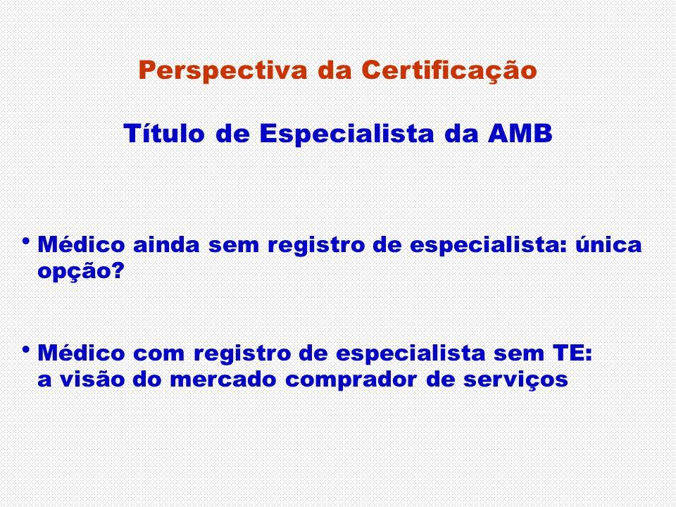 Perspectiva da Certificação Título de Especialista da AMB