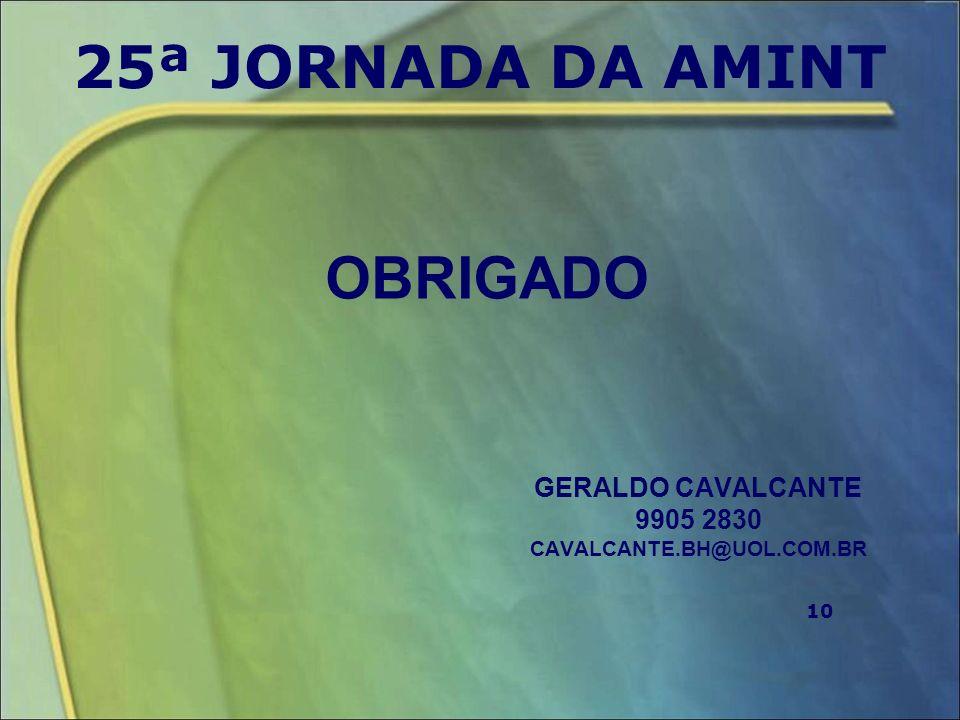 GERALDO CAVALCANTE 9905 2830 CAVALCANTE.BH@UOL.COM.BR