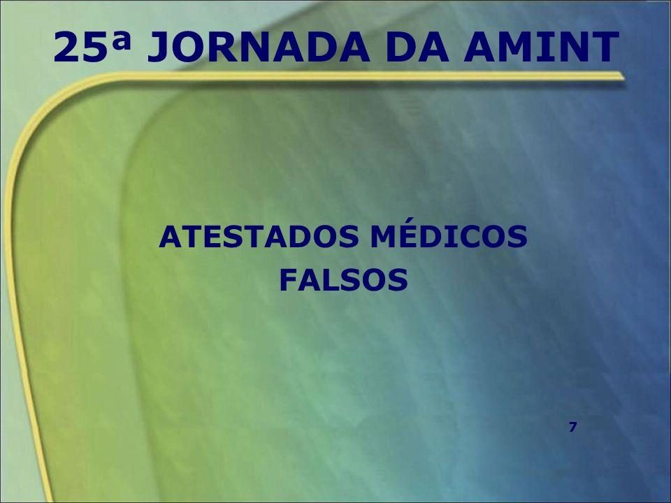 ATESTADOS MÉDICOS FALSOS
