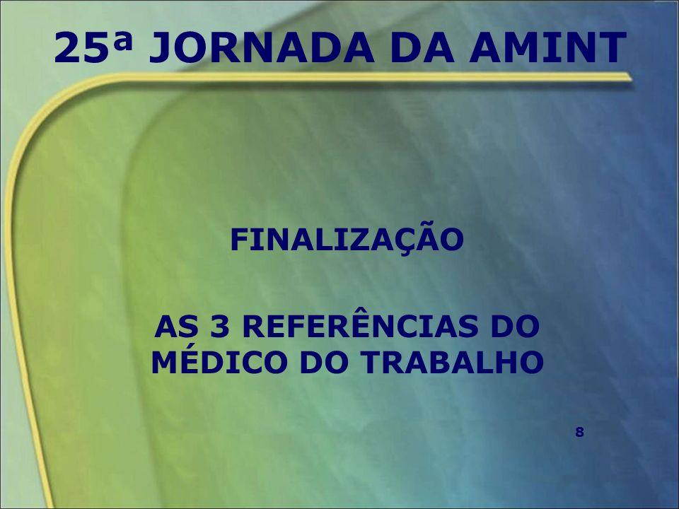 FINALIZAÇÃO AS 3 REFERÊNCIAS DO MÉDICO DO TRABALHO