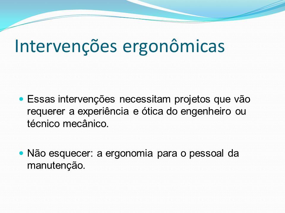 Intervenções ergonômicas