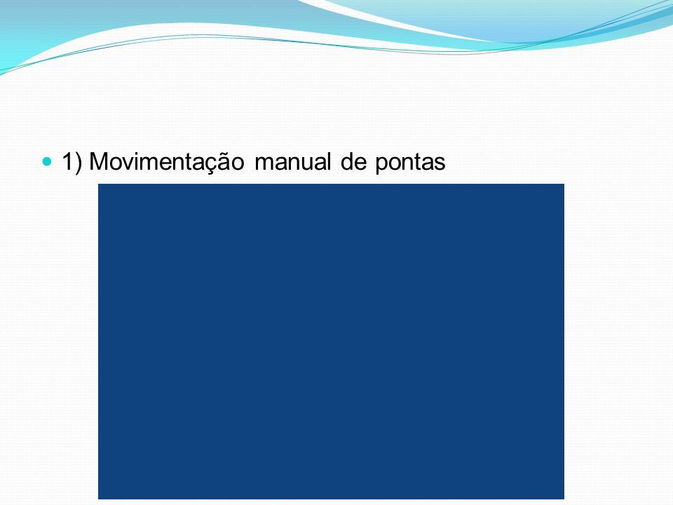 1) Movimentação manual de pontas