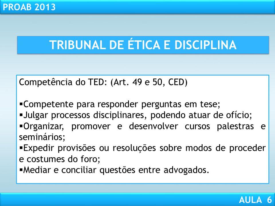 TRIBUNAL DE ÉTICA E DISCIPLINA