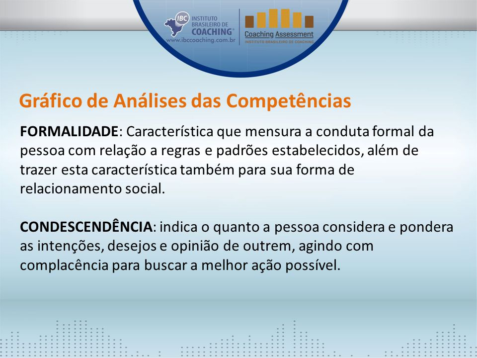Gráfico de Análises das Competências