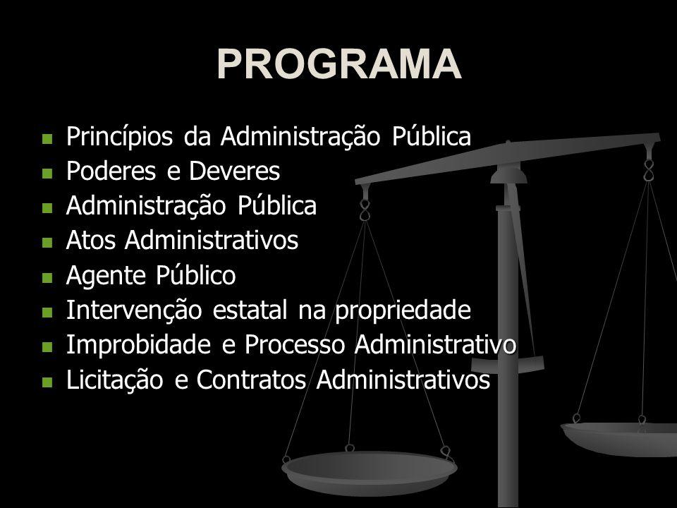 PROGRAMA Princípios da Administração Pública Poderes e Deveres