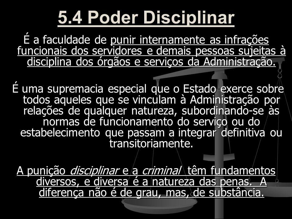 5.4 Poder Disciplinar