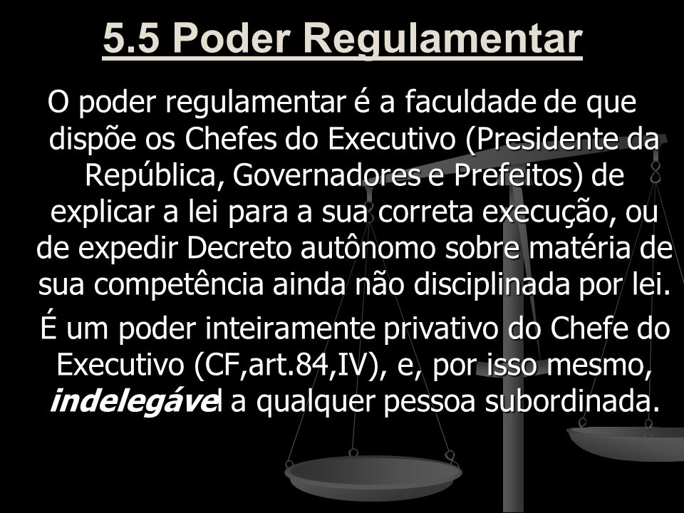 5.5 Poder Regulamentar