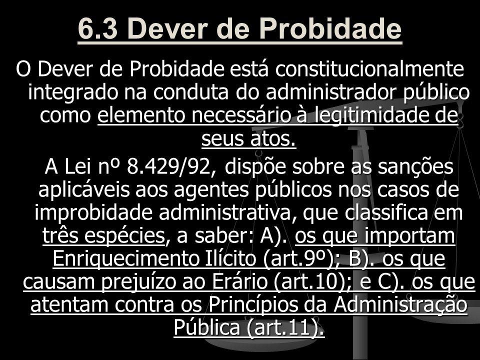 6.3 Dever de Probidade
