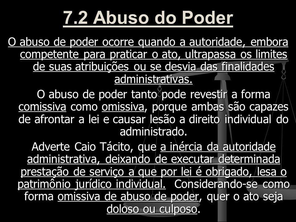 7.2 Abuso do Poder