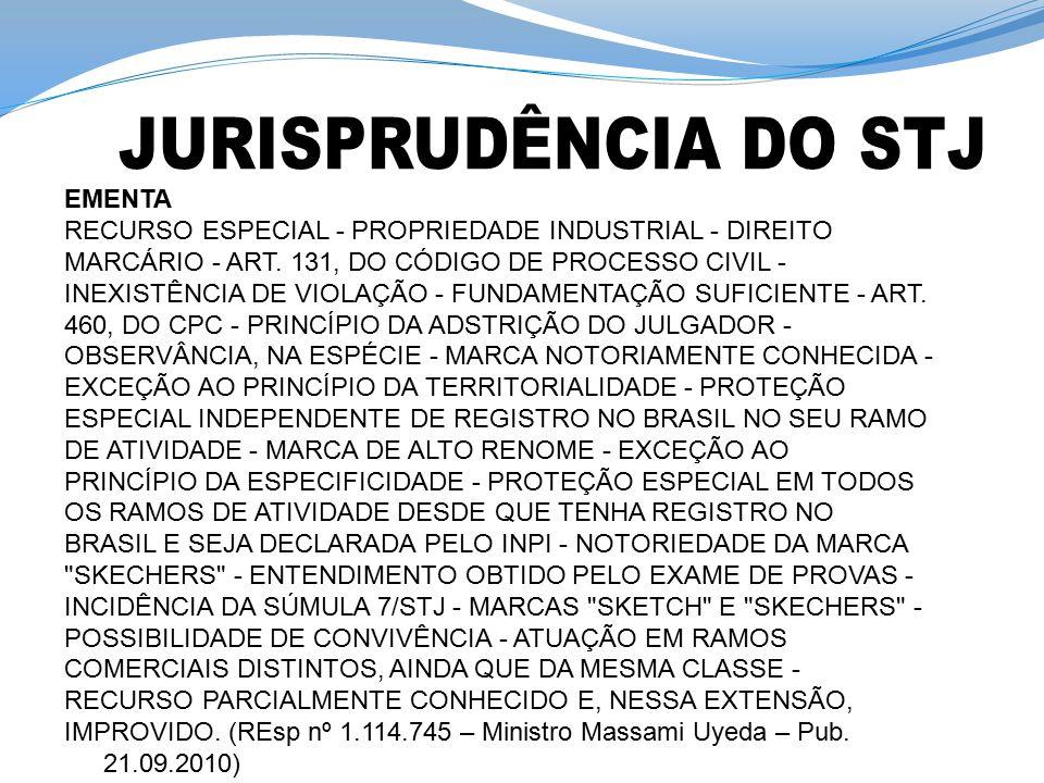 JURISPRUDÊNCIA DO STJ EMENTA