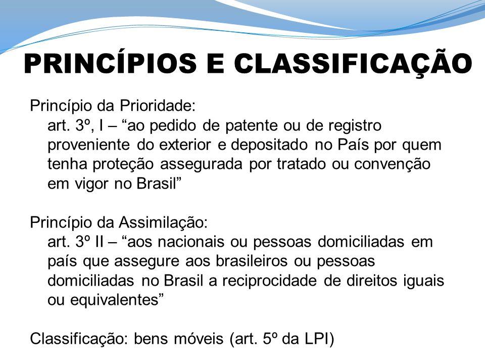 PRINCÍPIOS E CLASSIFICAÇÃO