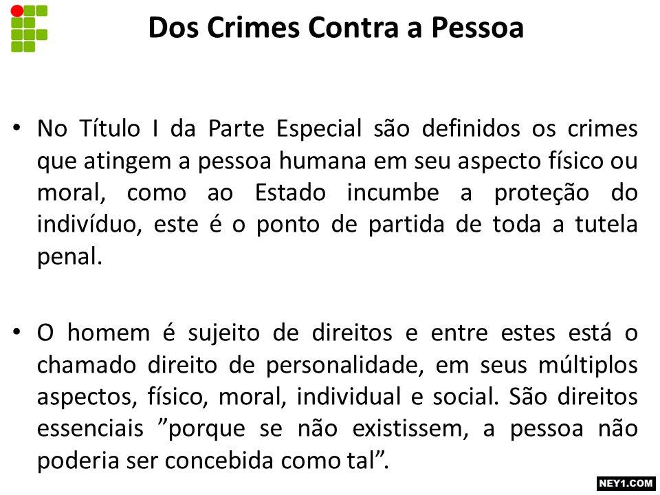 Dos Crimes Contra a Pessoa