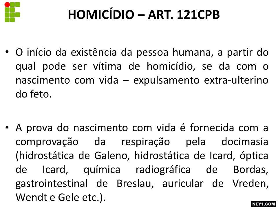 HOMICÍDIO – ART. 121CPB