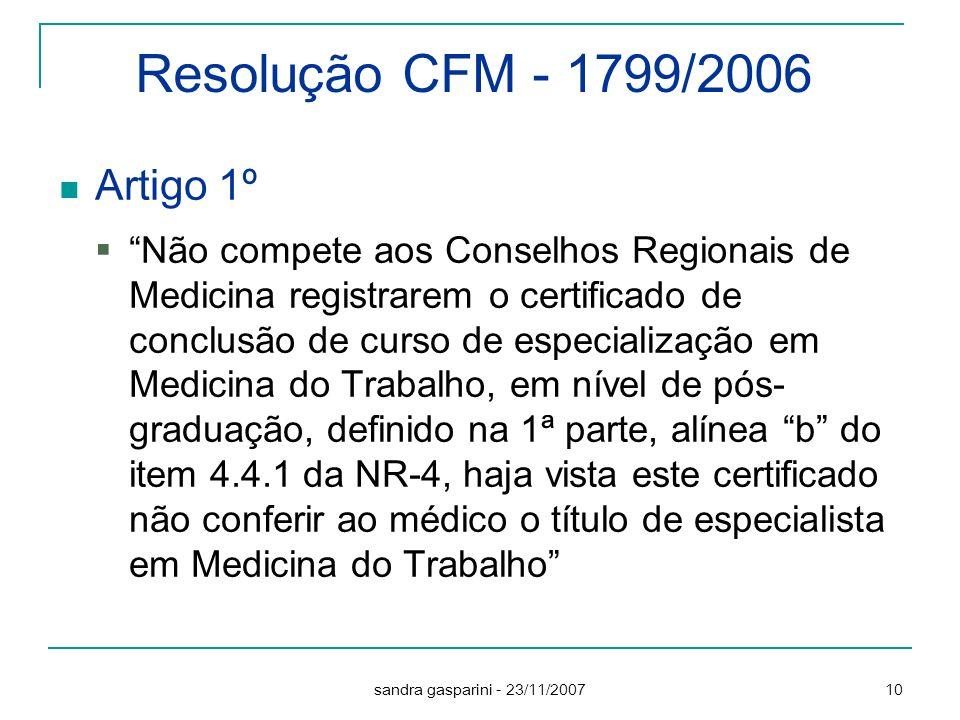 Resolução CFM - 1799/2006 Artigo 1º