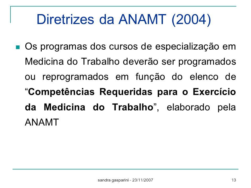 Diretrizes da ANAMT (2004)